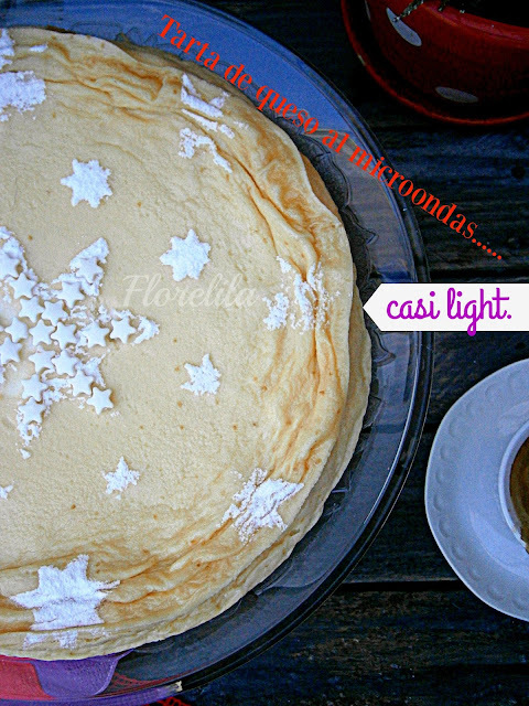 Tarta de queso al microondas.........casi light.