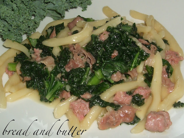 Fresh home made pasta with cavolo nero and sausage!!!