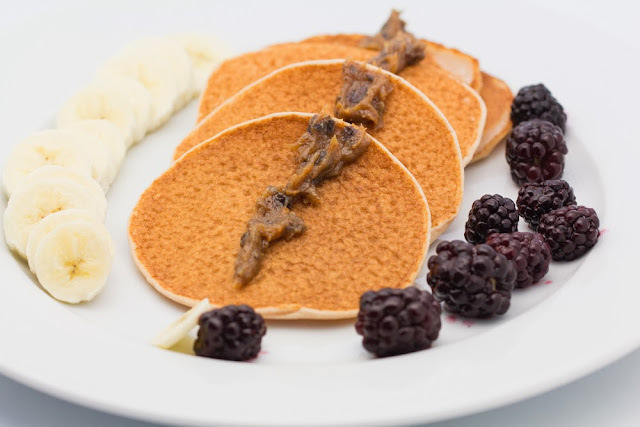 Gluten-Free and Vegan Pancakes with Cinnamon Date Jam