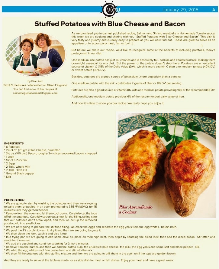 STUFFED POTATOES WITH BLUE CHEESE AND BACON #englishrecipes