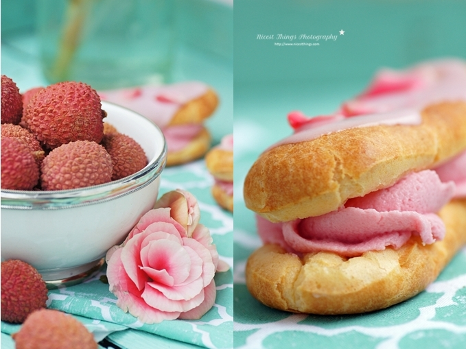 Lychee Rose Eclairs