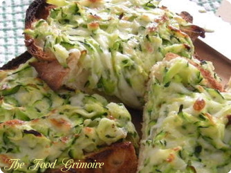 Tartines de courgettes