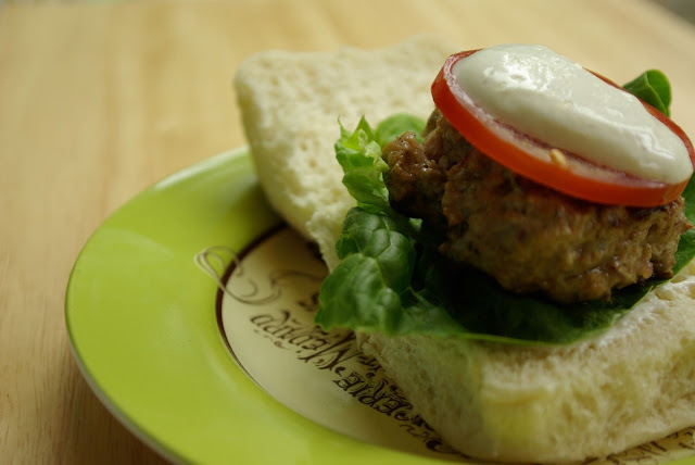 Sweet, herby little lamb burgers
