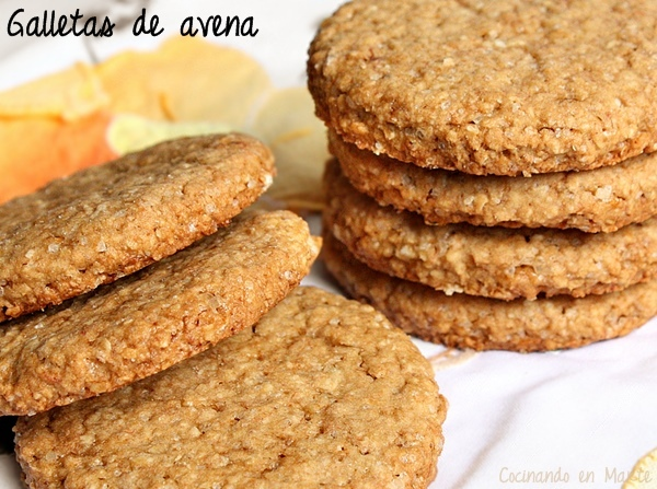 Galletas de avena {con banana}