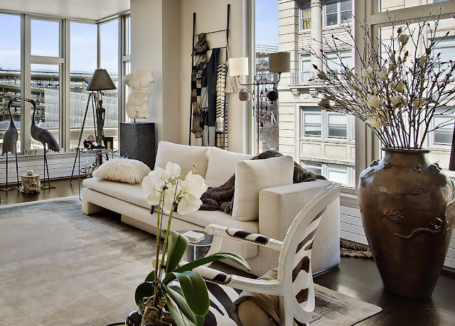 Boring Beige, Never! - Fabulous Neutral Manhattan Apartment