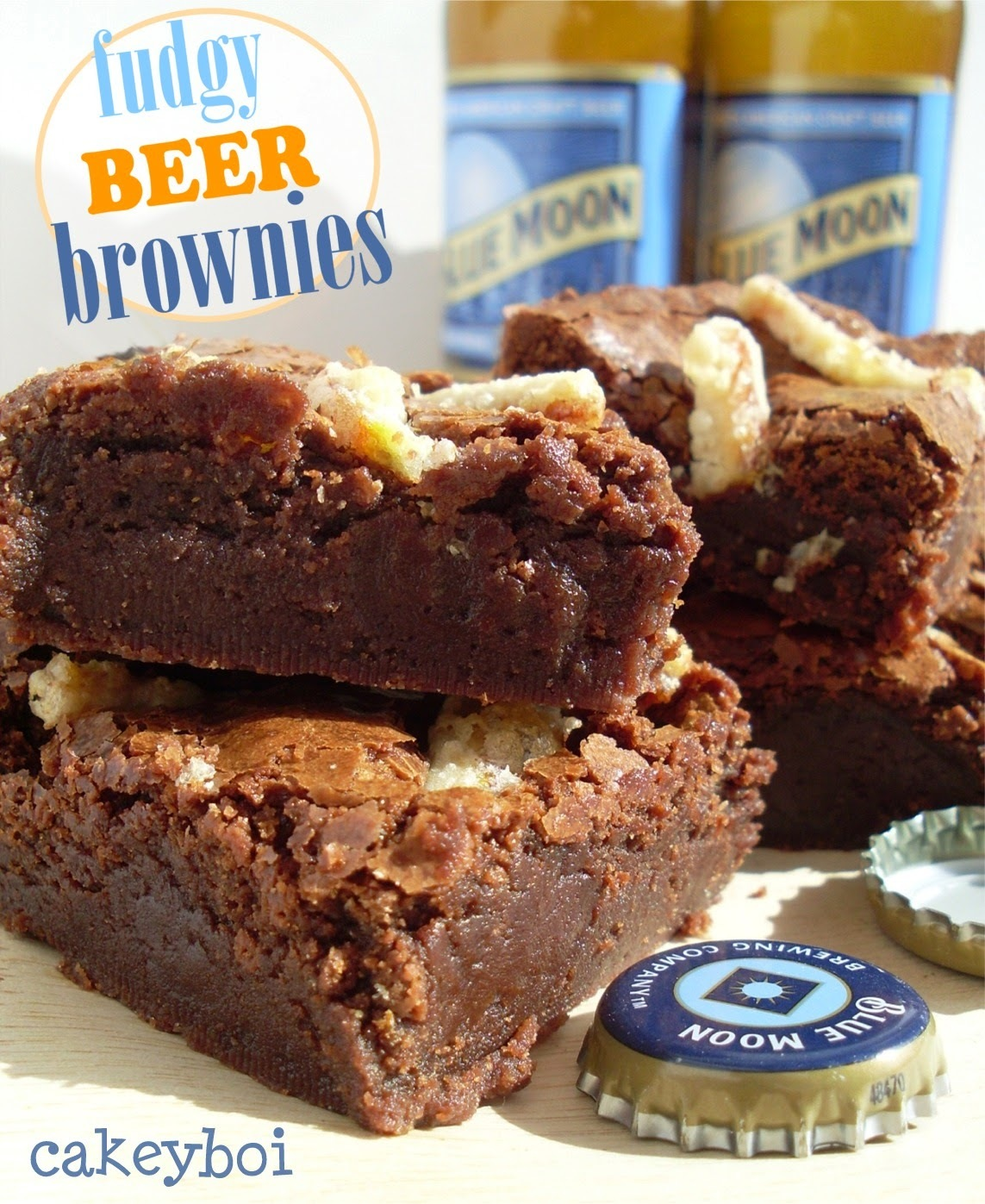 Fudgy Beer Brownies
