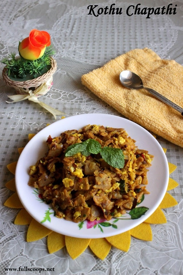 Kothu Chapathi with Eggs