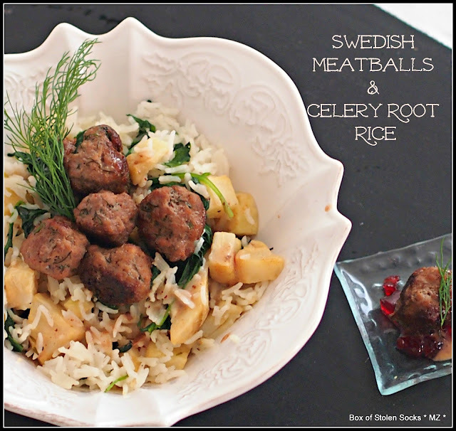 Meatballs & Celery Root Rice