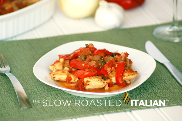 Chicken Cacciatore - On the Lighter Side  and a Giveaway WINNER!!!
