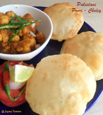 Pakistani Breakfast with Poori and Choley
