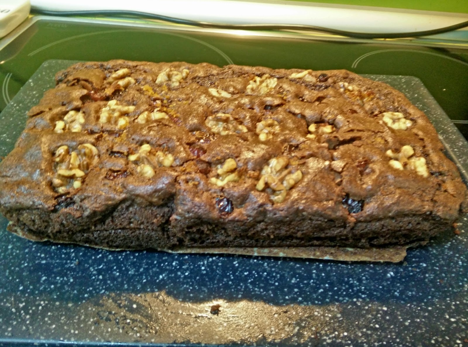 Brownie de Chocolate con Nueces y Arandanos