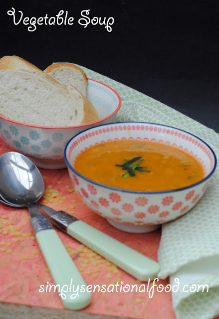 Vegetable Soup -suitable for 5-2 diet