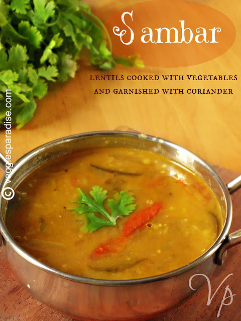 SAMBAR - WITH DRUMSTICK AND BRINJAL - STEP BY STEP