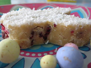 Raspberry & White Choc Guide Biscuit Slice from Kiwicakes Test Kitchen