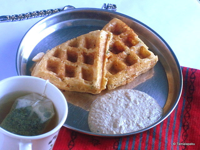 Wheat Flour-Vegetable Waffles