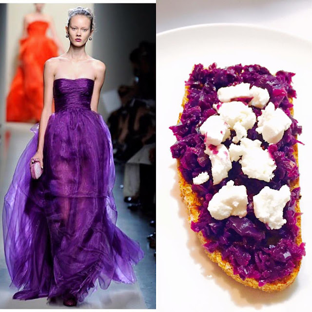 Fashion Food - Bruschetta al cavolo viola e caprino