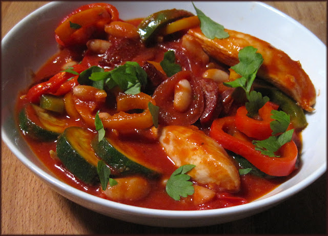 Jan's Spanish-Style Chicken and Sweet Pepper Stew