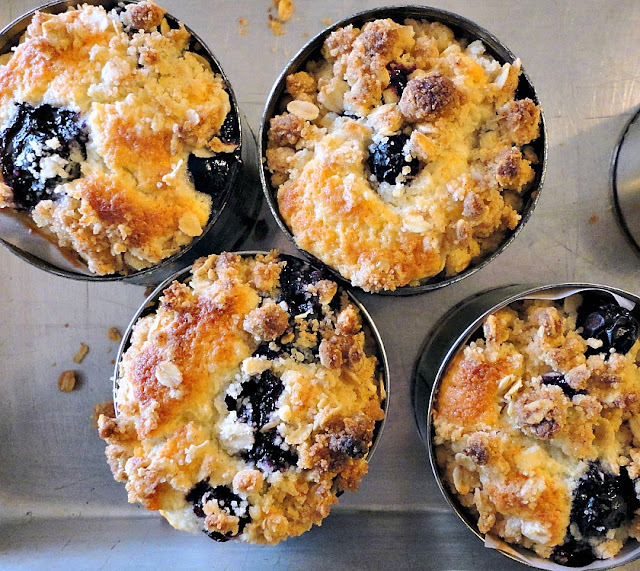 lemon blueberry oat crumble muffins