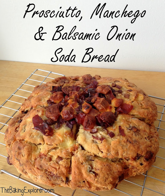 Prosciutto, Manchego and Balsamic Onion Soda Bread: GBBO Week #3