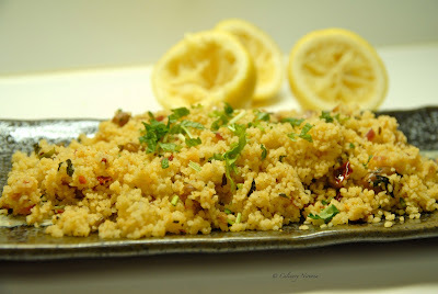 Couscous with beans and harissa!
