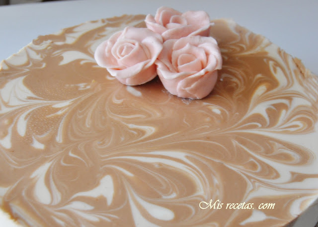 Tarta de queso, chocolate y baileys
