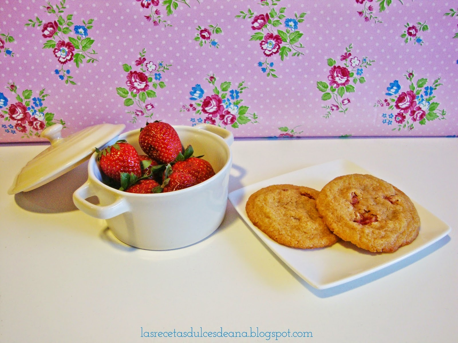 Galletas de fresas naturales