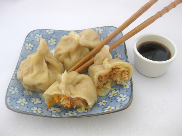 Dumplings o empanadillas chinas al vapor