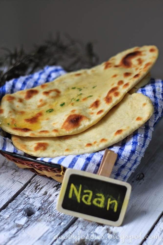 Recipe: Indian Naan Bread with Garlic Herb Butter