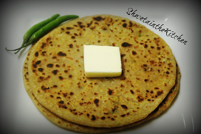Gobi Paratha - Cauliflower Stuffed Flat-bread
