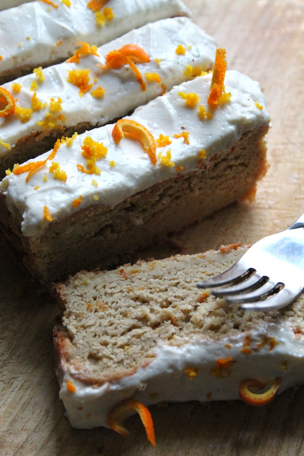 Orange Loaf Cake With Cream Cheese Frosting (Gluten-Free, Low Carb)