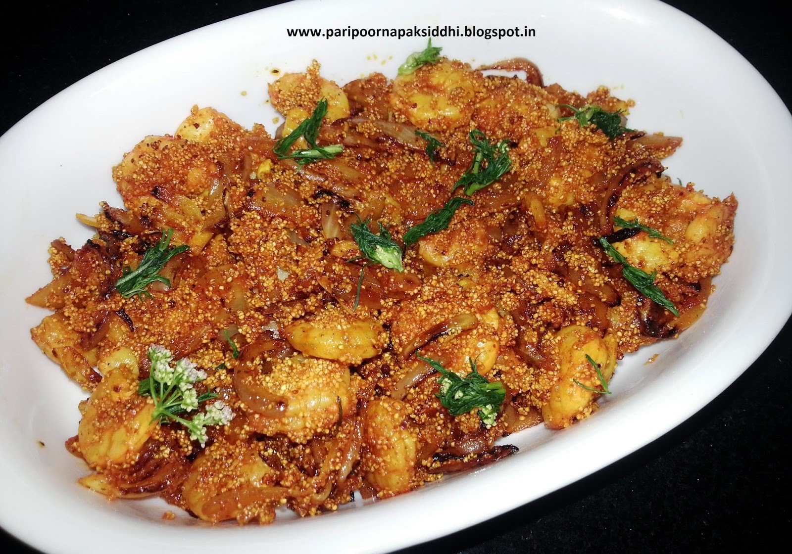 ACHARI JHEENGA / PRAWNS IN PICKLE MASALA
