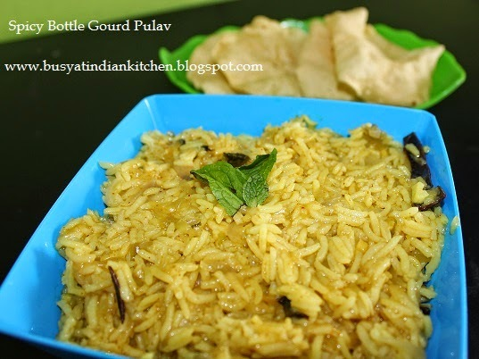 Spicy Sorakkai Pulav (Spicy Bottle Gourd Pulav)