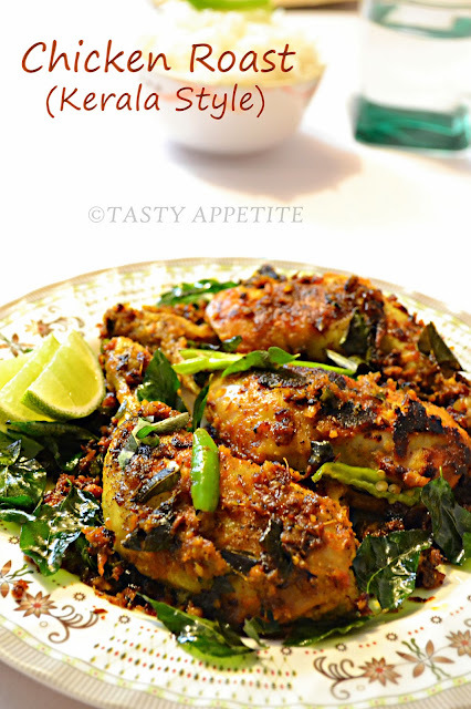 Kerala Style Chicken Roast / Spicy Pepper Chicken Fry / Nadan Chicken Roast / Step-by-Step Recipe: