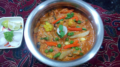 Veg Handi Recipe | Hotel Style Mixed Vegetable Diwani Handi gravy