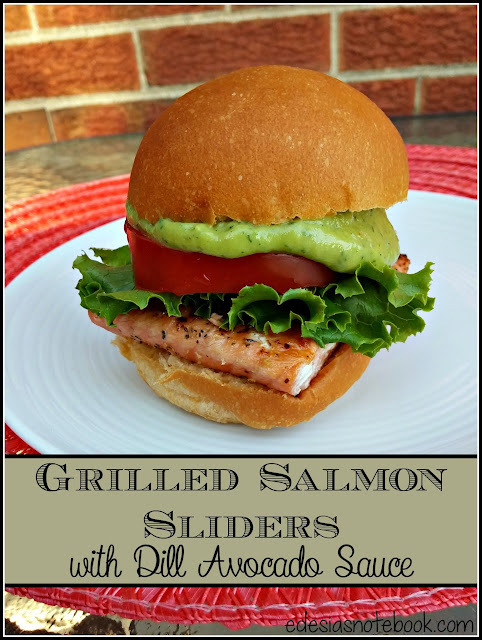 Improv: Grilled Salmon Sliders with Dill Avocado Sauce