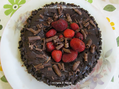 DEVIL'S FOOD CAKE WITH STRAWBERRIES: GUEST POST BY ARCHANA S. NAYAK