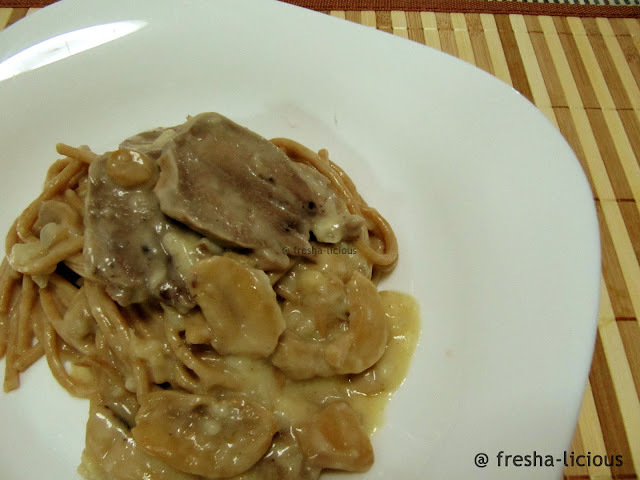 A Healthier Way of Eating Pig's Tongue In Garlic Mushroom Sauce