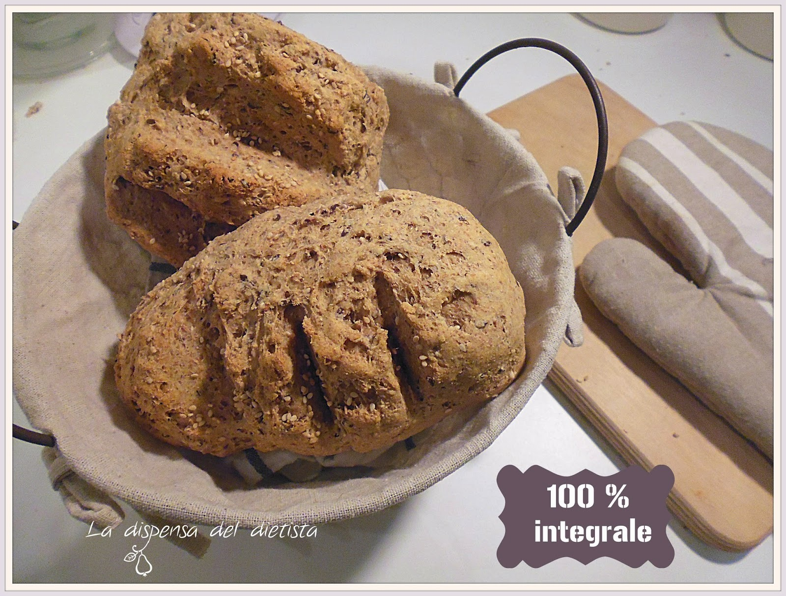 Pane integrale e ai semi fatto in casa