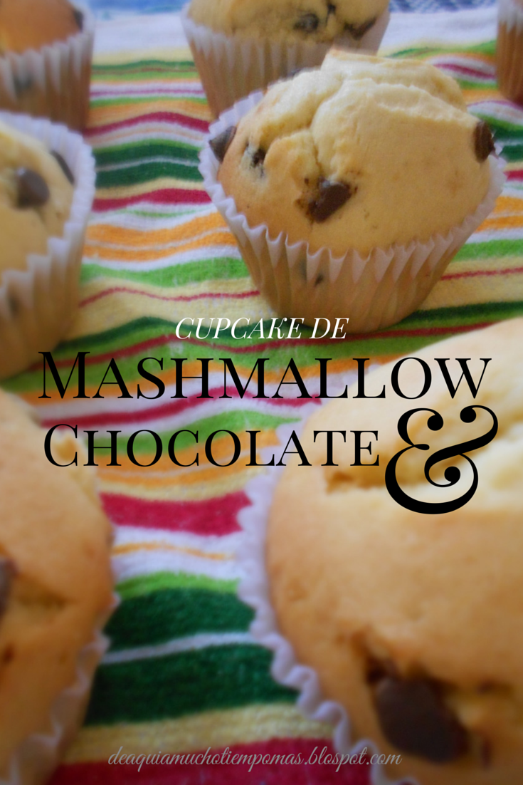 Cupcakes de Mashmallow y Chocolate