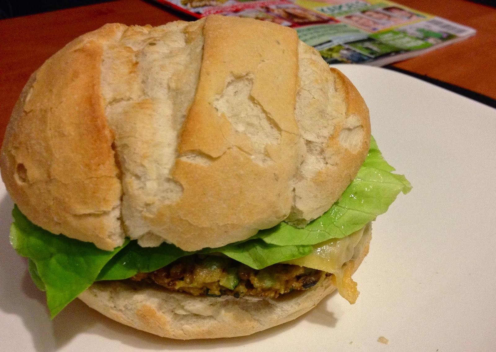 veggie cheese burger