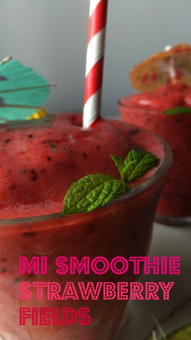 Sobre el arte de hacer smoothies y mi smoothie strawberry fields