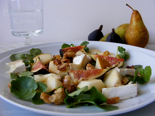 Fresh Fig, Goats Cheese, Pear & Walnut Salad