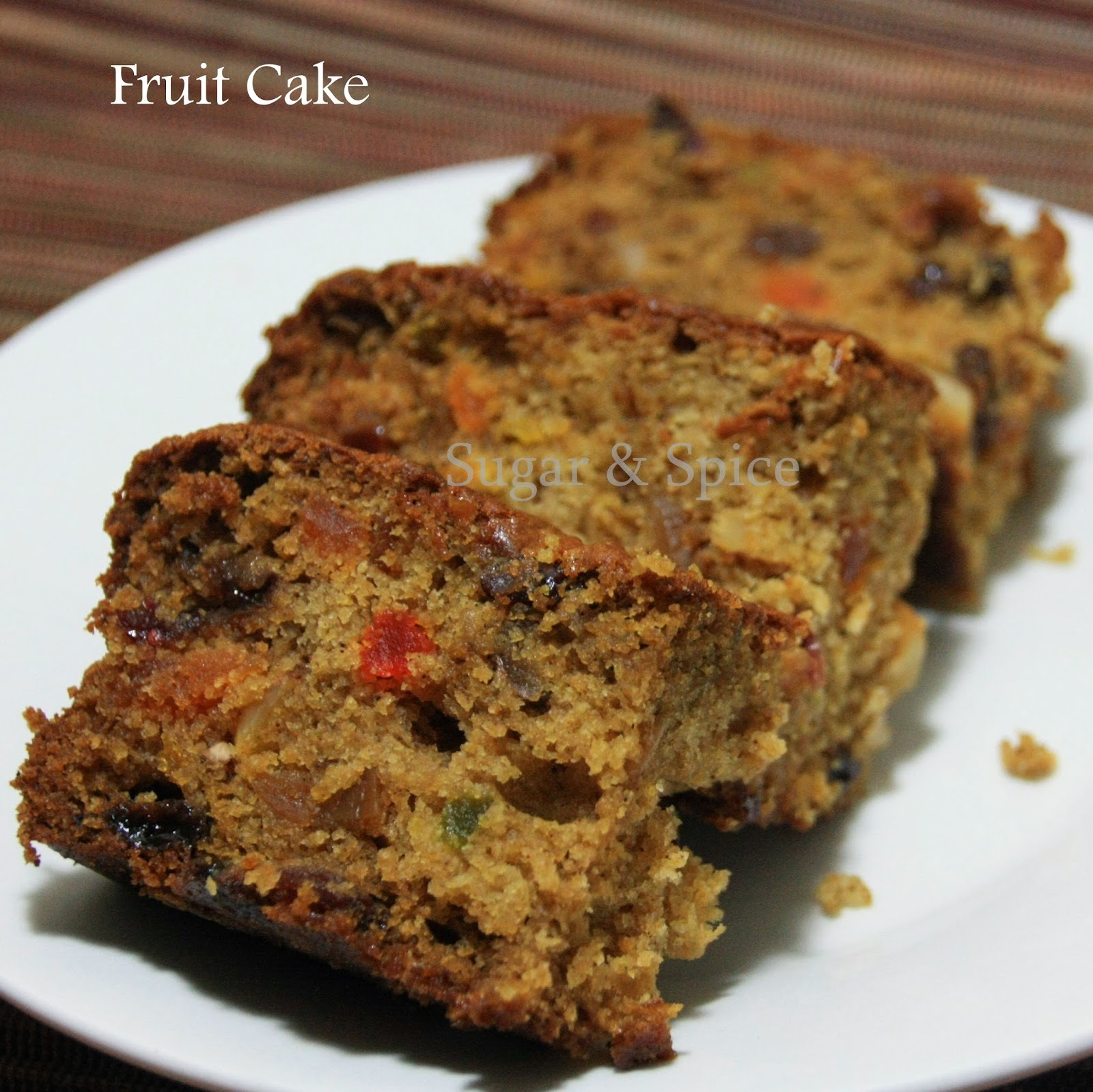 Fruit Cake | Christmas Cake - No Soaking | Eggless | Whole Wheat | Alcohol Free