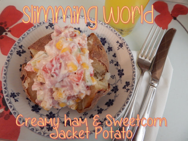 Slimming World Creamy Ham and Sweetcorn Jacket Potato