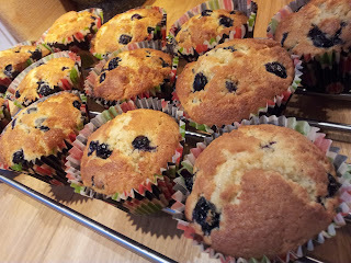 Dedicated to my American Relatives... The real Blueberry Muffin American Style!