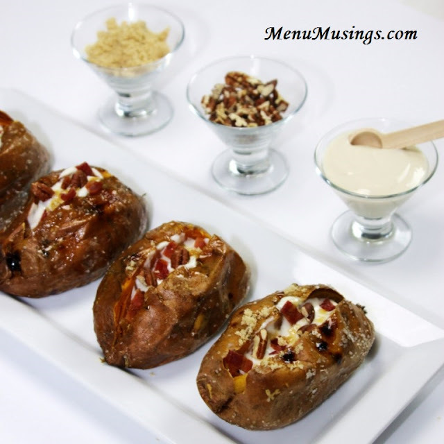 Baked Sweet Potatoes with Maple Brown Sugar Sour Cream