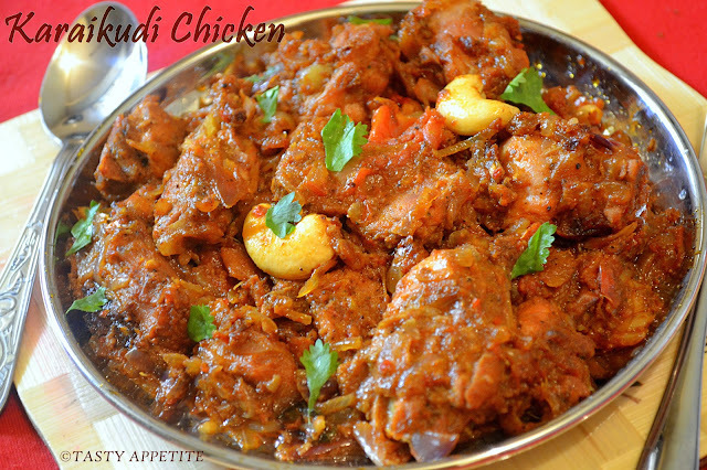 How to make Karaikudi Chicken Fry  /  Spicy Chicken Varuval: