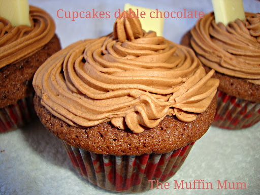 Cupcakes doble chocolate
