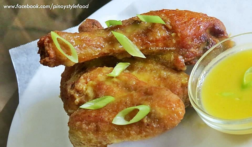 Chicken Drums and Chicken Wings with Pinoy Mango Sauce