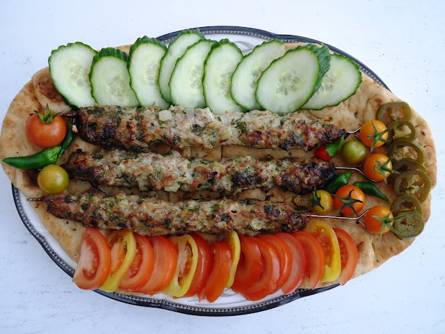 Chicken Seekh Kebabs.